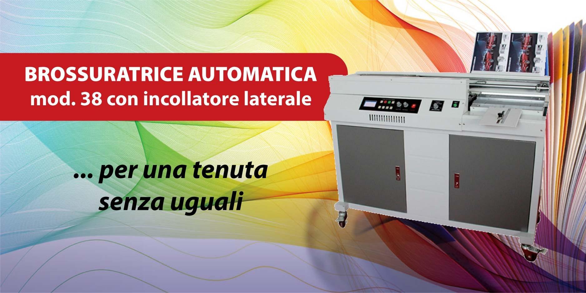 Brossuratrice automatica con incollatore laterale